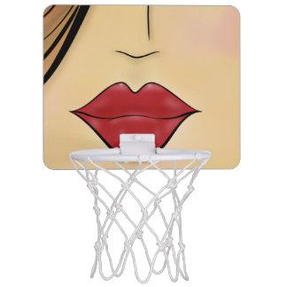 女性の顔 ミニバスケットボールゴール