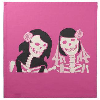 女性の骨組カップル ナプキンクロス