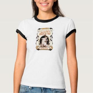 女性の魔法使いの醸造物のハロウィンのTシャツ Tシャツ
