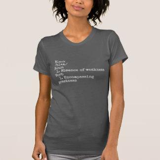 女性の黒定義上では Tシャツ