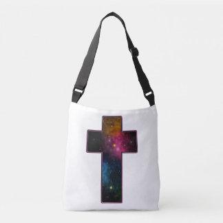 女性の10代のな女の子の粋なキリスト教の十字の銀河系 クロスボディバッグ