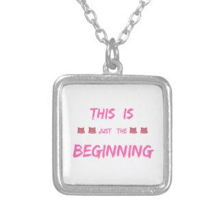 女性の3月これはちょうど始めです シルバープレートネックレス