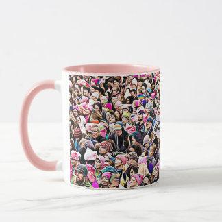 女性の3月の平等の抗議者のコーヒー・マグ マグカップ