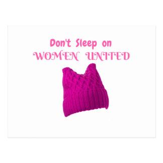 女性の3月は統一されたな女性で眠りません ポストカード