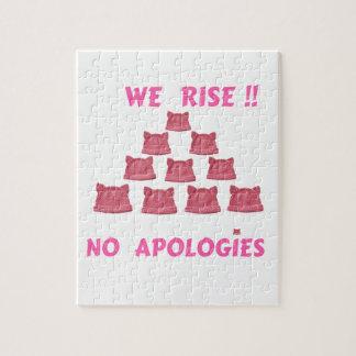 女性の3月私達は謝罪立上がりません ジグゾーパズル