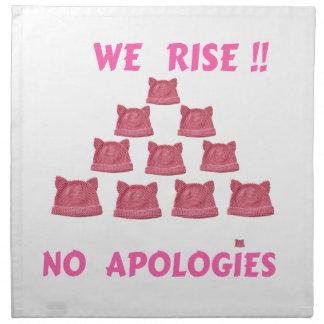 女性の3月私達は謝罪立上がりません ナプキンクロス