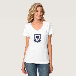 女性の7本のカシ-無地のなティー Tシャツ