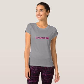 """女性の""""強さ""""の短いスリーブを付けられたフィットネスのワイシャツ Tシャツ"""