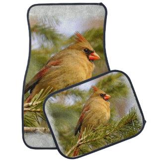女性の(鳥)ショウジョウコウカンチョウ1Aのフロアマット カーマット