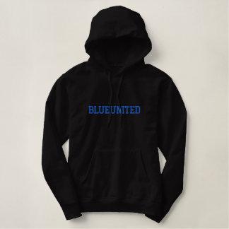 """女性の""""BLUEUNITED""""の刺繍されたプルオーバーのフード付きスウェットシャツ 刺繍入りパーカ"""