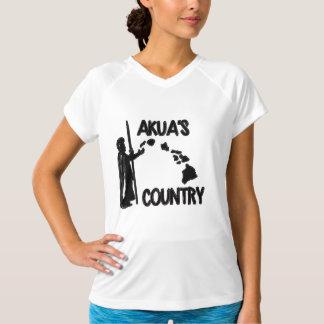 女性のAkuaの国の二重乾燥したV首のTシャツ Tシャツ