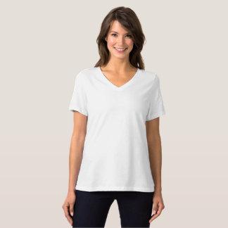 女性のBellaによってリラックスされる適合のジャージーのV首のTシャツ Tシャツ