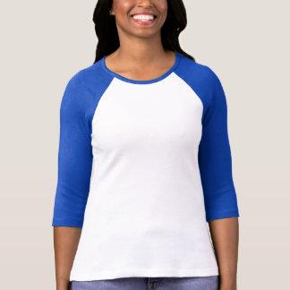 女性のBellaのキャンバス3/4の袖のRaglan Tシャツ