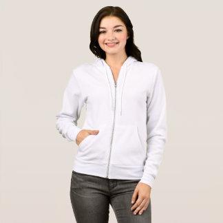 女性のBella+キャンバスの全ジッパーのフード付きスウェットシャツ パーカ