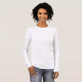 女性のBella+キャンバスの長袖のTシャツ 長袖Tシャツ