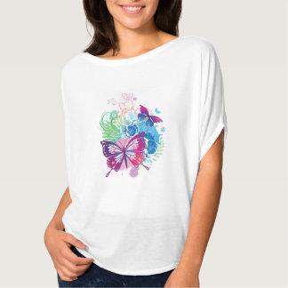 女性のBella+キャンバスのFlowyの円の上 Tシャツ