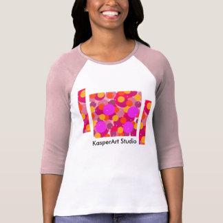 女性のBella+キャンバス3/4の袖のRaglanのTシャツ Tシャツ