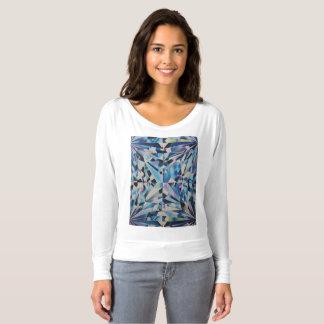 女性のBella+肩のワイシャツを離れたキャンバスFlowy Tシャツ