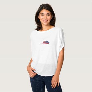 女性のbelleaのflowy円の上の粉砕のスケートボード tシャツ