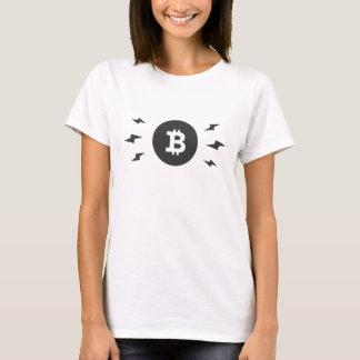 女性のbitcoinの照明のTシャツ Tシャツ
