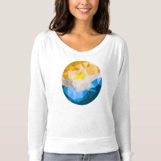 女性のFlowyの長袖のティー Tシャツ