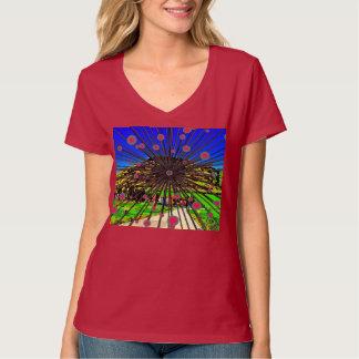 女性のHanesのNano V首のTシャツ Tシャツ