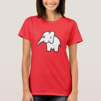 女性のHanes ComfortSoft®のTシャツ、象 Tシャツ