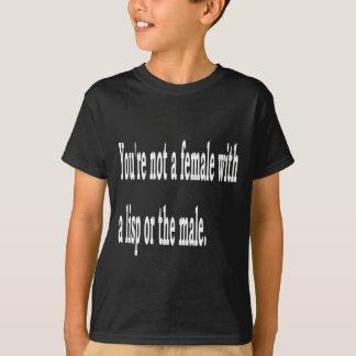 女性のLisp、2b Tシャツ