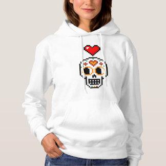 女性のLovergirlの死んだフード付きスウェットシャツの8ビット日 パーカ