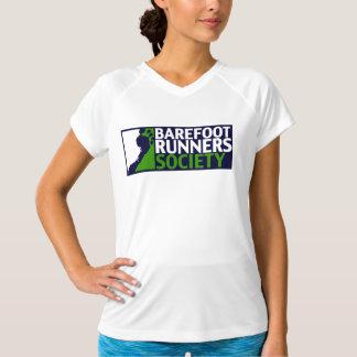 女性のmicrofiberのロゴタンク tシャツ