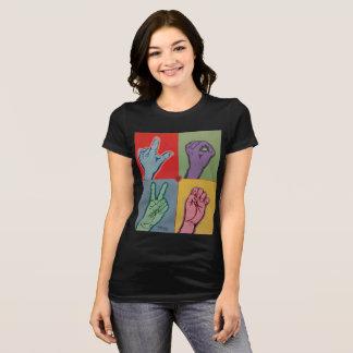 女性のTシャツのための愛ASL Tシャツ