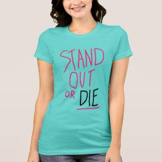 女性のTシャツを立てて下さい Tシャツ