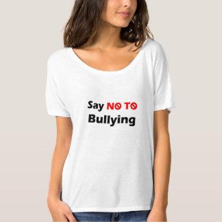 女性のTシャツ(いじめを拒否して下さい) Tシャツ