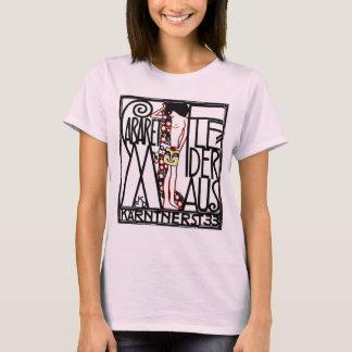 女性のTシャツ: アールヌーボー-キャバレーFledermaus Tシャツ