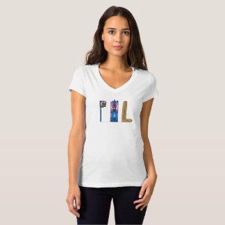 女性のTシャツ フィラデルヒィア、PA (PHL) Tシャツ