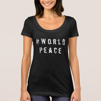 女性のTシャツ#世界平和感動的な上 Tシャツ