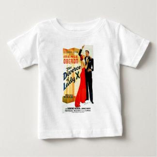 女性のX離婚 ベビーTシャツ