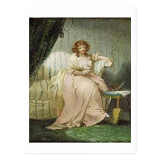 女性はアンの芸術家の妻、c.1790-180を電話しました ポストカード