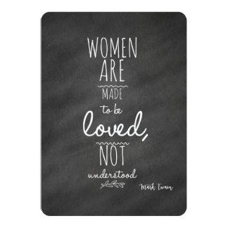 女性はマーク・トウェインの愛された引用文であることを意味しました カード