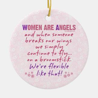 女性は天使です セラミックオーナメント