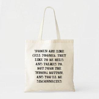 女性は携帯電話のようです トートバッグ