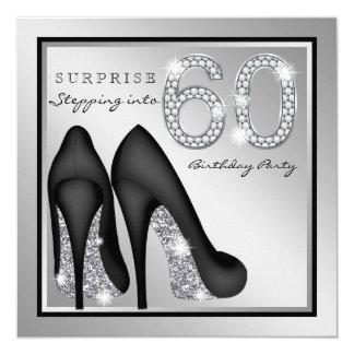 女性は第60誕生会の銀を驚かします カード