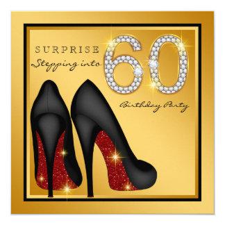 女性は第60誕生会を驚かします カード
