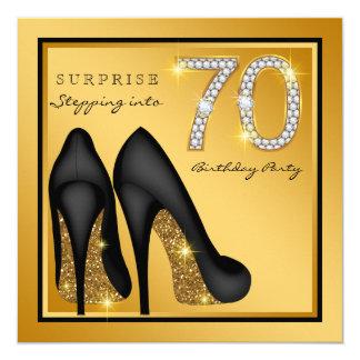 女性は第70誕生会を驚かします カード