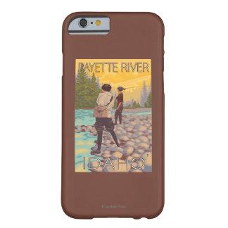 女性は魚釣り- Payetteの川、アイダホ--を飛ばします Barely There iPhone 6 ケース