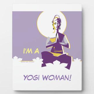 女性を照らせば十分にのYoginiによっては、「mindがうろつきます フォトプラーク