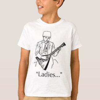 女性キラーおもしろいなミュージシャンのユーモアを遊ぶバラライカ Tシャツ