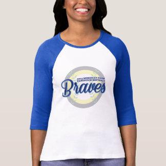 女性クラシックな野球のワイシャツ Tシャツ