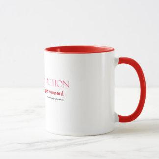 女性サポート女性のマグ マグカップ