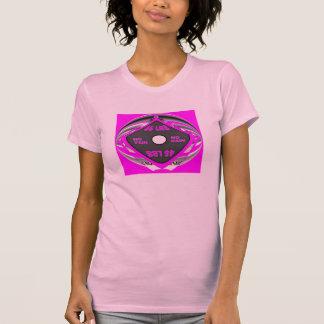女性ショッキングピンク苦痛無し利益無し Tシャツ
